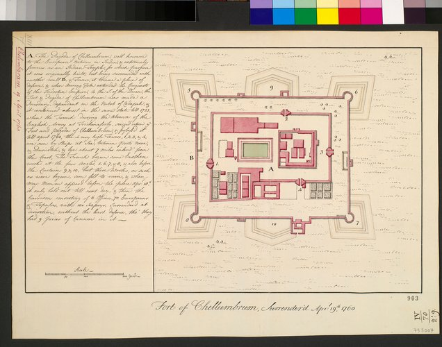 Plan of Chelumbrum, 1760 (Sabhanayaka Temple, Chidabaram, Tamil N?du, India) 11?23'58