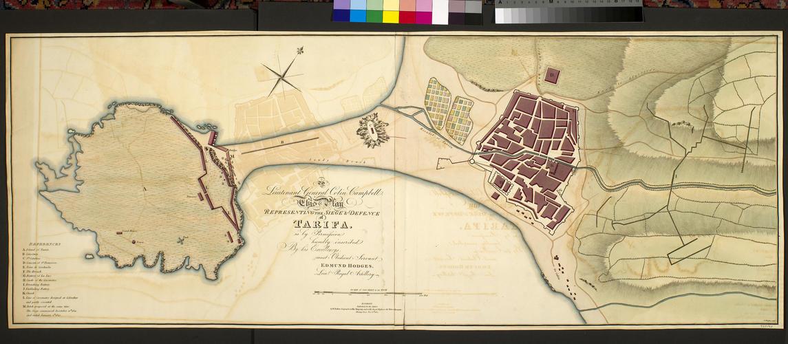 Map of Tarifa, 1811 (Tarifa, Andalusia, Spain) 36?00'50