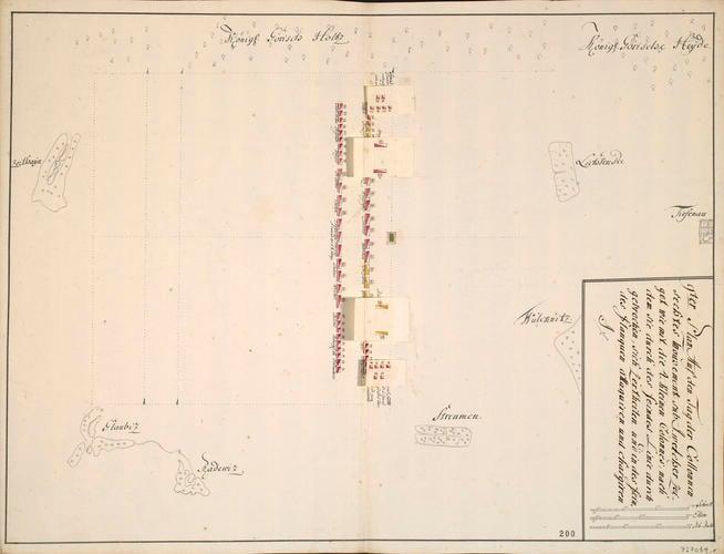 Military review at Zeithain and Muhlberg, 1730 (Zeithain, Saxony, Germany) 51?20?01?N 13?20?17?E; (Muhlberg, Brandenburg, Germany) 51?26?04?N 13?13?18?E