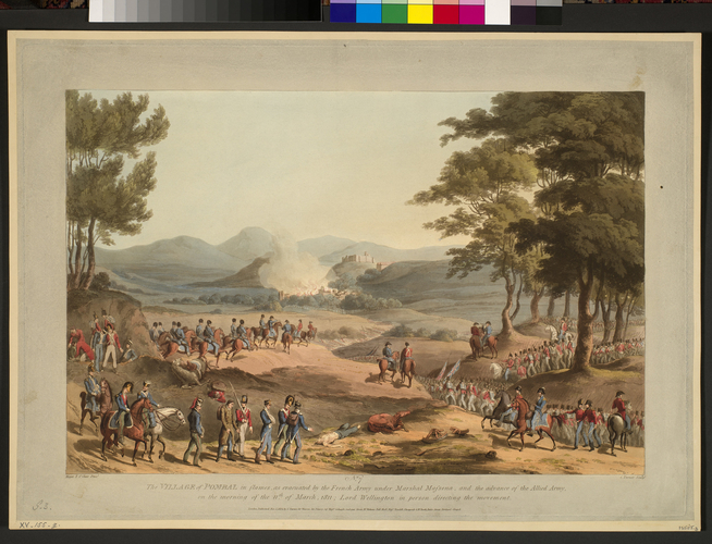 Master: Spain Twelve Views of the principal occurences of the Campaigns of 1810 and 1811 in Spain and Portugal: by Major T. S. t Clair, engraved by C. Turner, 1812-15. Item: Pombal, 1811 (Pombal, Lei