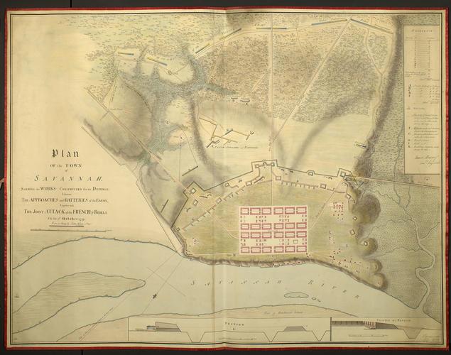 Plan of Savannah, 1779 (Savannah, Georgia, USA) 32?05'00
