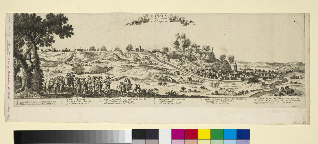 View of the siege of Monzon, 1642 (Monzon [Moncon], Aragon, Spain) 41?54?39?N 00?11?39?E