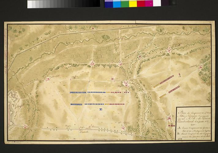Map of encampment at Diegem, 1745 (Diegem, Flanders, Belgium) 50?53'50