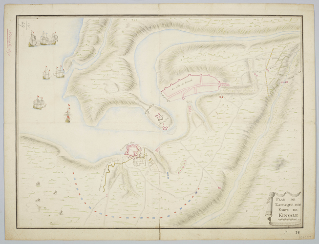 Map of the siege of Kinsale, 1690 (Kinsale, Munster, Ireland) 51?42?27?N 08?31?50?W