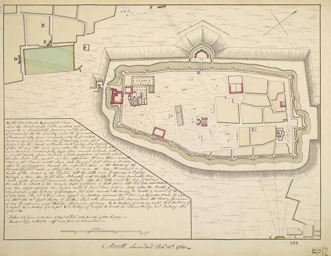 Plan of Arcot, 1760 (Arcot, Tamil N?du, India) 12?54'20