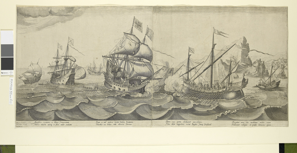 View of the Battle of Sesimbra Bay, 1602 (Sesimbra, Setubal, Portugal) 38?26?40?N 09?06?05?E