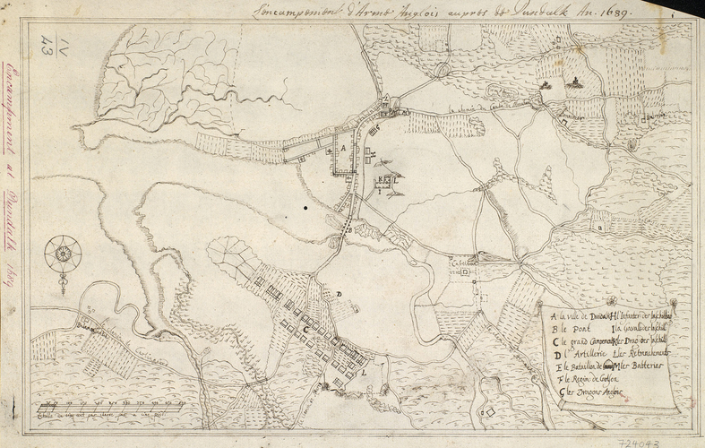 Map of Dundalk, 1689 (Dundalk, Leinster, Ireland) 54?00?00?N 06?25?00?W