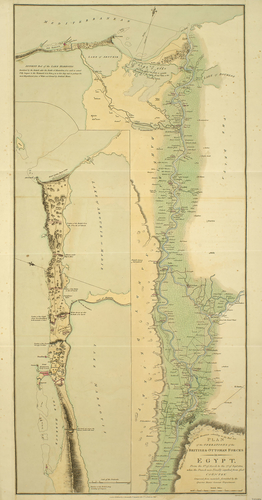 Map of Egypt, 1801
