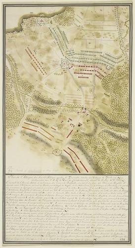 Map of the Battle of Fontenoy, 1745 (Fontenoy, Walloon Region, Belgium) 50?34'03