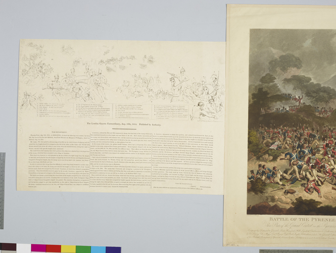 Master: Battle of the Pyrenees. 28 July 1813. Item: Battle of the Pyrenees, 1813