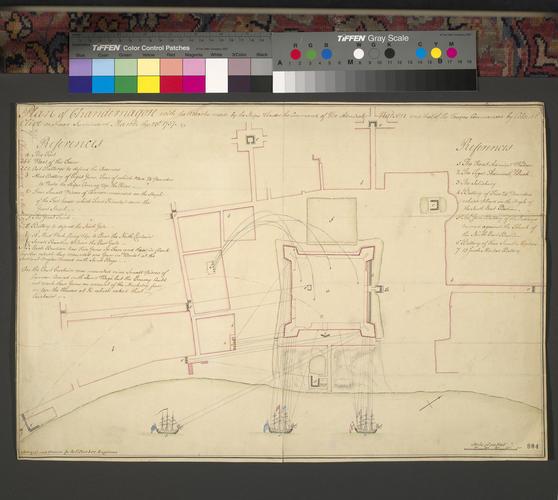 Plan of Chandannagar, 1757 (Chandannagar, Bengal, India) 22?52'09