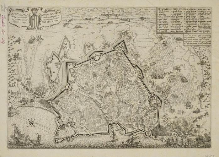 A map of Candia, 1668 (Heraklion [Candia, Irakleion], Crete, Greece) 35?19?40?N 25?08?36?E