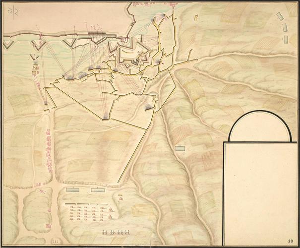 Plan of the siege of Valenciennes, 1676-7 (Valenciennes, Nord-Pas-de-Calais, France) 50?21'00