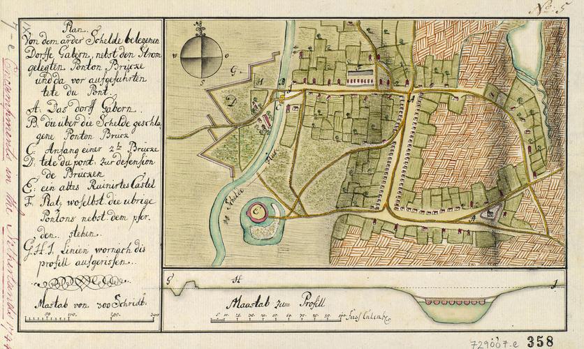 Master: Netherlands, 1744 Item: Plan of Gavere, 1744 (Gavere, Flanders, Belgium) 50?55'45