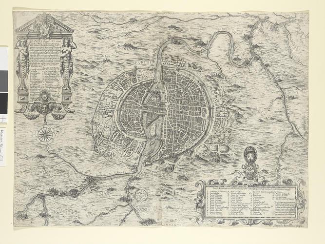 Map of the siege of Paris, 1589 (Paris, Ile-de-France, France) 48?51?12?N 02?20?55?E