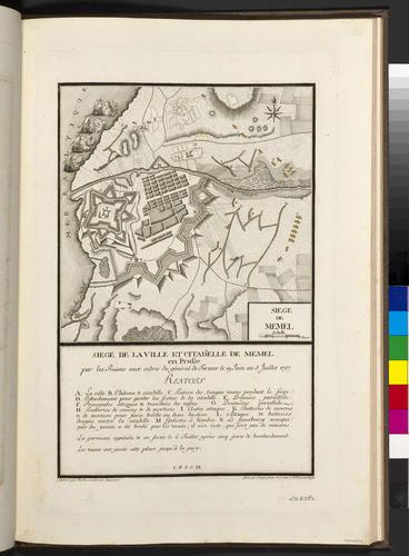 Master: Maps of Germany, 1756-62 Item: Map of the siege of Memel, 1757 (Klaipeda, Klaipedos Apskritis, Lithuania) 55?43'02