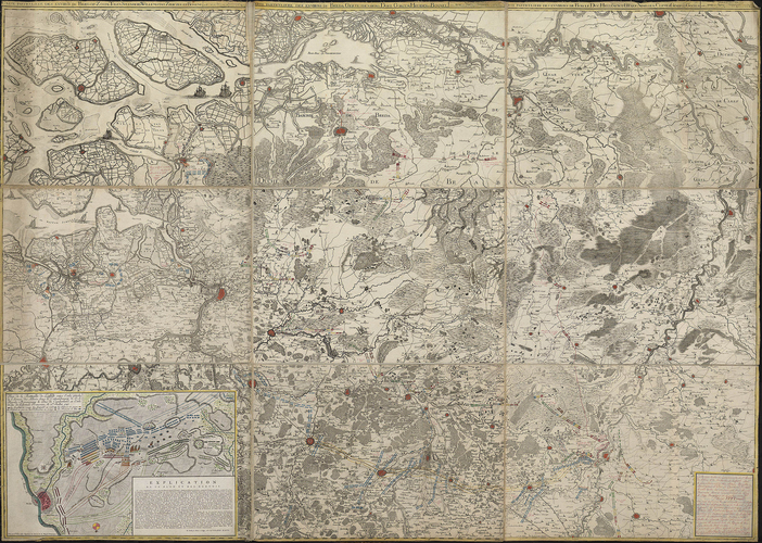 Map of Brabant, 1747 (Belgium; North Brabant, Netherlands)