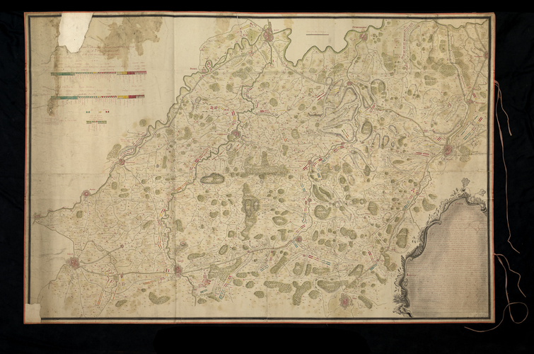 Map of the Netherlands, 1744-5 / Order of battle of the Allied army at Fontenoy, 1745 (Fontenoy, Walloon Region, Belgium) 50?34'03