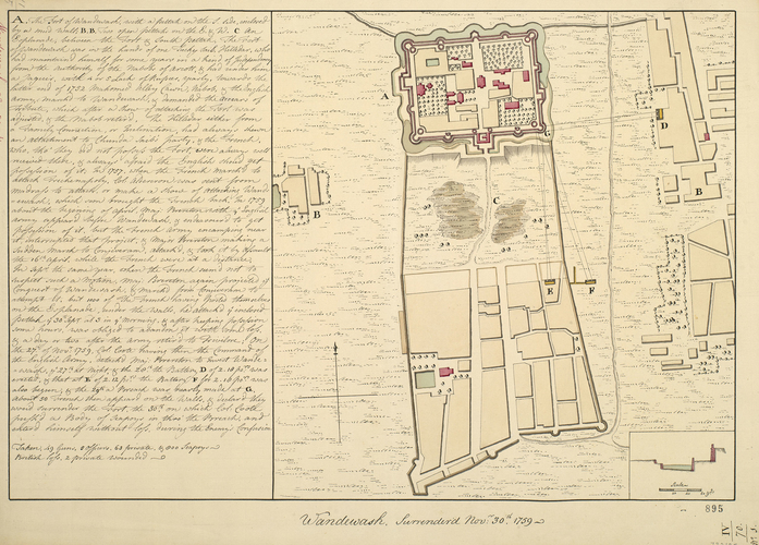 Plan of the action at Wandiwash, 1759 (Vandav?si, Tamil N?du, India) 12?30'15