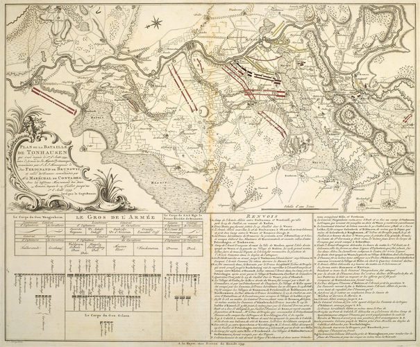 Map of the Battle of Minden, 1759 (Minden, North Rhine-Westphalia, Germany) 52?17'00