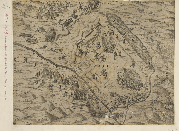 View of the siege of Poitiers, 1569 (Poitiers, Poitou-Charentes, France) 46?35?00?N 00?20?00?E
