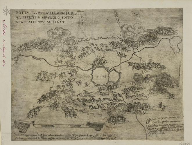 A view of the siege of Arras, 1654 (Arras, Nord-Pas-de-Calais, France) 50?17'34