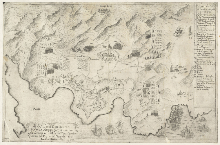 View of Porto Longone, 1650 (Porto Azzurro [Porto Longone], Island of Elba, Tuscany, Italy) 42?46?01?N 10?23?45?E