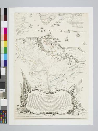 Map of the siege of Yorktown, 1781 (Yorktown, Virginia, USA) 37?14'19