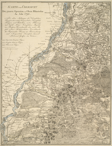 Master: Maps of the Rhine, 1793-4 Item: Map of the River Rhine, 1793-4, France and Germany