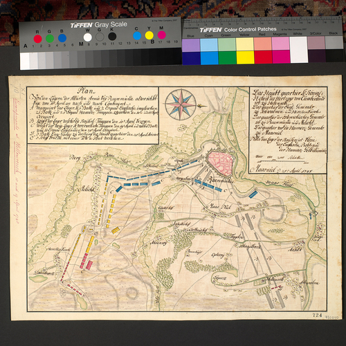Map of encampment at Roermond and Hellenrouck, 1748 (Roermond, Limburg, Netherlands) 51?11'39