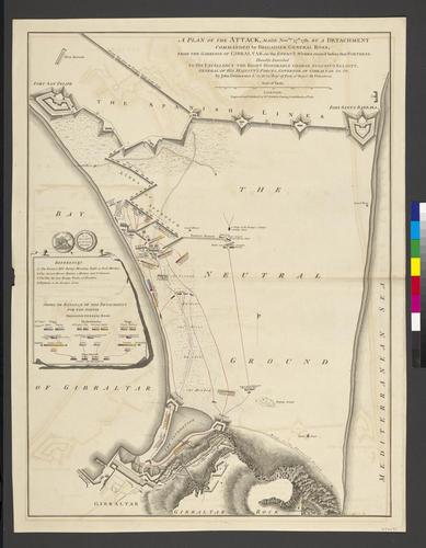 Plan of Gibraltar, 1781 (Gibraltar, British Overseas Territory) 36?08'00