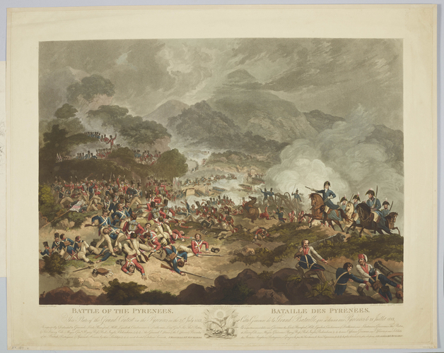 Master: Battle of the Pyrenees. 28 July 1813. Item: View of the Battle of the Pyrenees, 1813