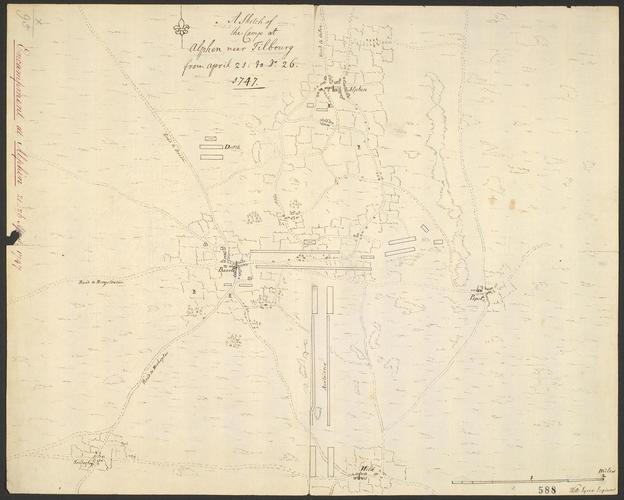 Map of encampment at Alphen, 1747 (Alphen, North Brabant, Netherlands) 51?28'54