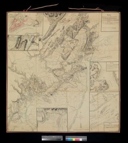 Map of New York, Philadelphia, Staten Island, Fort Knyphausen and Fort Mifflin, 1776-9 (New York, NY state, USA) 40?42'51