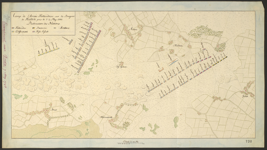 Map of encampment at Hulten, 1748 (Hulten, North Brabant, Netherlands) 51?34'21