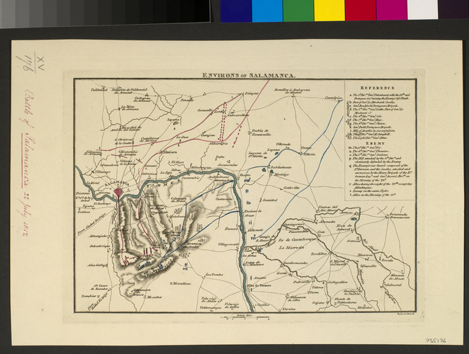 Map of the Battle of Salamanca, 1812 (Salamanca, Castille and Leon, Spain) 40?58'00