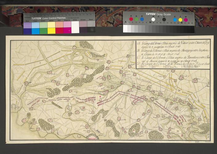 Plan of encampments at Namur, 1746 (Namur, Walloon Region, Belgium) 50?28'00