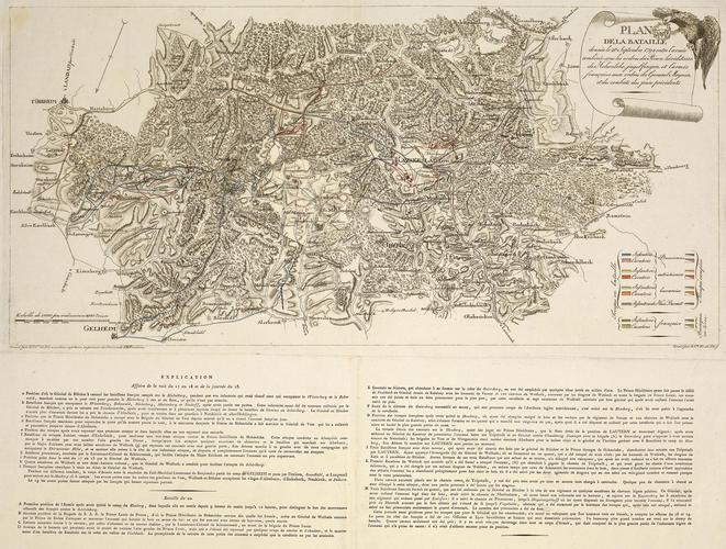 Map of the Battle of Kaiserslautern, 1794 (Kaiserslautern, Rhineland-Palatinate, Germany) 49?27'00