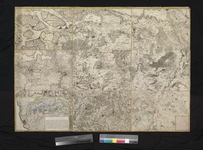 Map of Brabant, 1747 (Belgium; North Brabant, Netherlands)