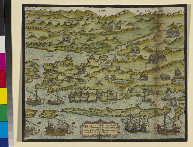 Map of Zara, 1571 (Zadar, Zadarska, Croatia) 44?07?11?N 15?14?32?E
