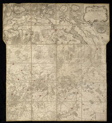 Map of Brabant, 1747-1748 (Belgium; North Brabant, Netherlands)