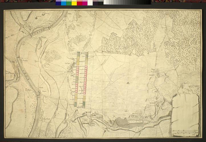 Map of Zeithain and Muhlberg, 1730 (Zeithain, Saxony, Germany) 51?20?01?N 13?20?17?E; (Muhlberg, Brandenburg, Germany) 51?26?04?N 13?13?18?E