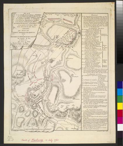 Item: Map of the Battle of Warburg, 1760 (Warburg, North Rhine-Westphalia, Germany) 51?30'00