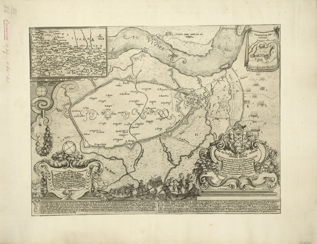 Map of the siege of Cremona, 1648 (Cremona, Lombardy, Italy) 45?07?59?N 10?01?16?E