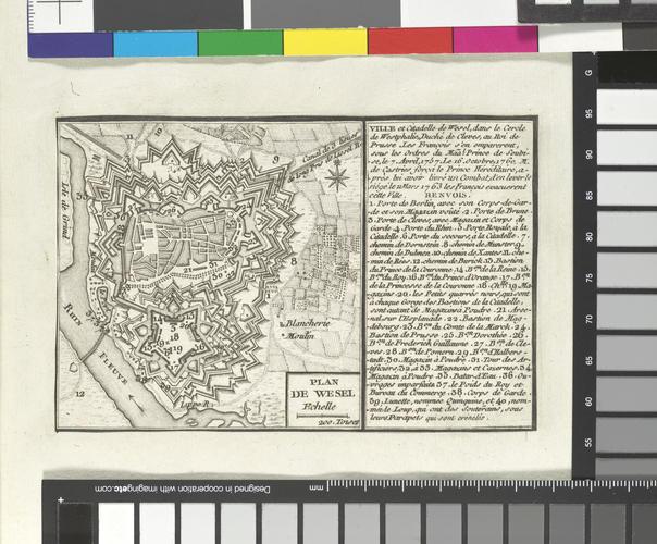 Master: Maps of Germany, Europe and North America, 1756-63 Item: Map of Wesel, 1763 (Wesel, North Rhine-Westphalia, Germany) 51?40'00