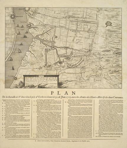 Map of the Battle of Eckeren, 1703 (Ekeren, Flanders, Belgium) 51?16'51
