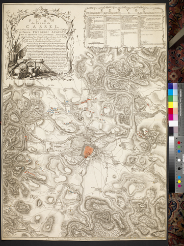 Map of Kassel, 1762 (Kassel, Hesse, Germany) 51?19'00