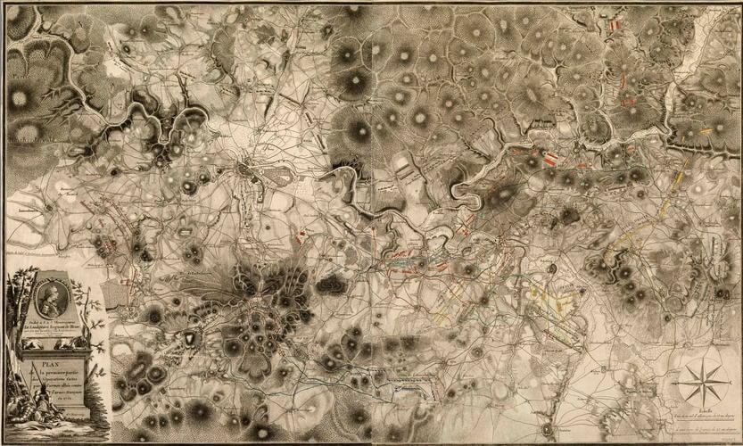 Map of Hesse-Kassel, 1762 (Hesse, Germany)