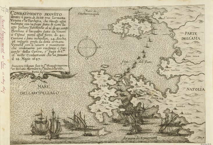 A naval battle near Chios, 1647 (Chios [Scio] Island, North Aegean, Greece) 38?24?21?N 26?01?28?E