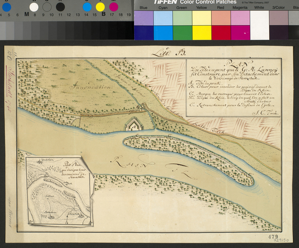 Plan of Stockstadt, 1745 (Stockstadt am Rhein, Hesse, Germany) 49?48'33
